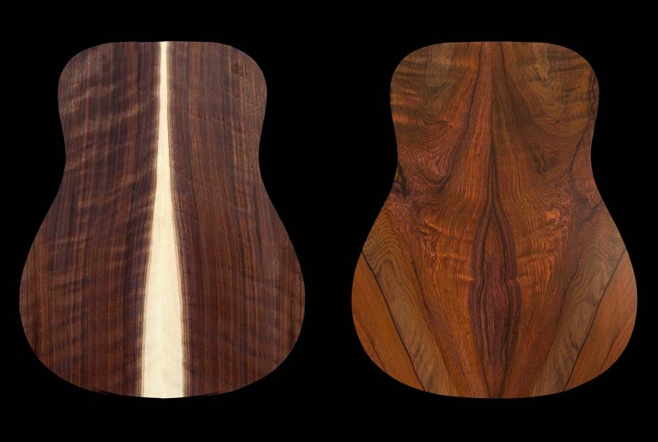 Flamed walnut and cocobolo