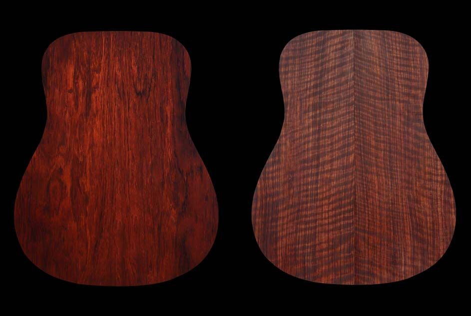 Madagascar rosewood and flamed bubinga
